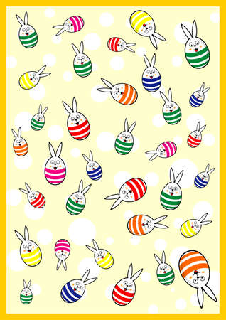 Easter Bunny Egg Background