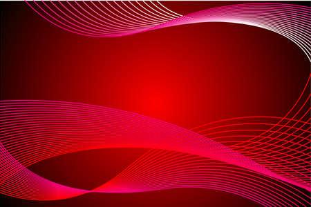 liner red color abstract design Illustration