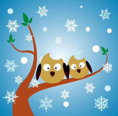 liti�re chouette oiseau Illustration