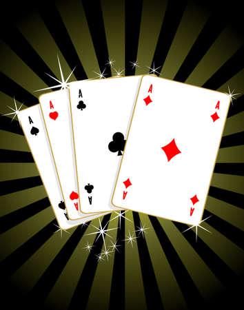 Jeu de cartes de poker d'as Vector