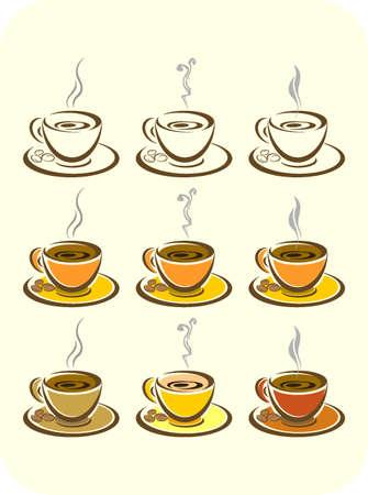 Coffee. El�ments pour la conception. Vector illustration.
