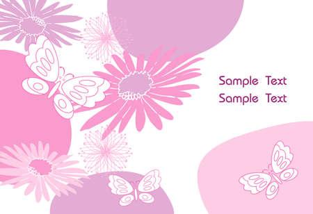 Beautiful Butterfly & Flower r�sum� vecteur