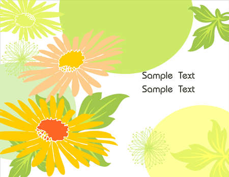 Sunflower Background abstract vector Illustration