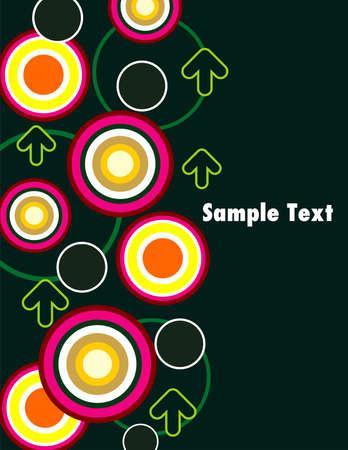 Circular Seamless retro pattern