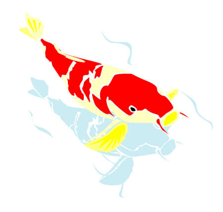 poisson koi: Koi Fish Vector