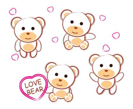 cute amour ours en peluche