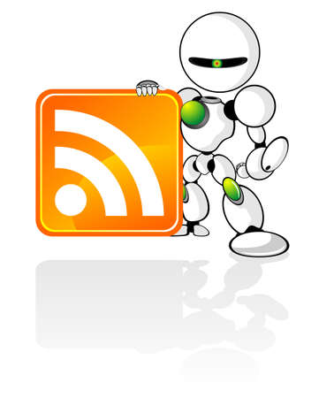 cybernetics: RSS robot with RSS Icon
