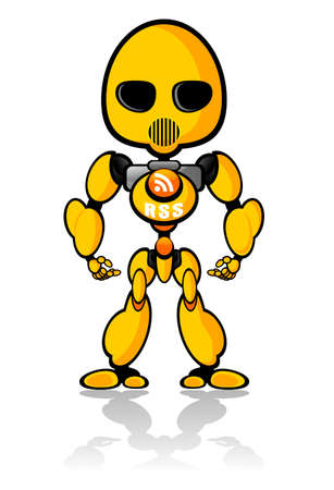 Cute little RSS Robot Vector