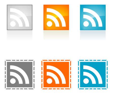 Symbole RSS Banque d'images