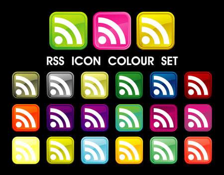 RSS Symbol icon color set Stock Photo