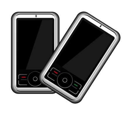 vecteur de t�l�phone mobile  Banque d'images