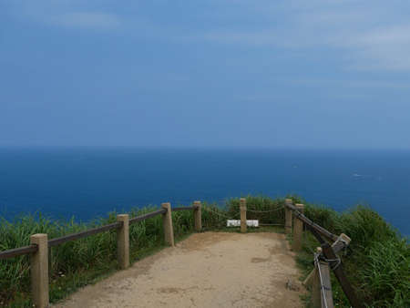 Sea view of Nanzijing Trail, North Coast of Taiwan 版權商用圖片