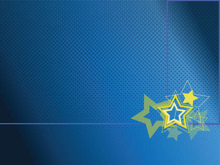 stars with blye background Vector