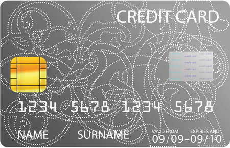 gray credit card Stock Vector - 6528231