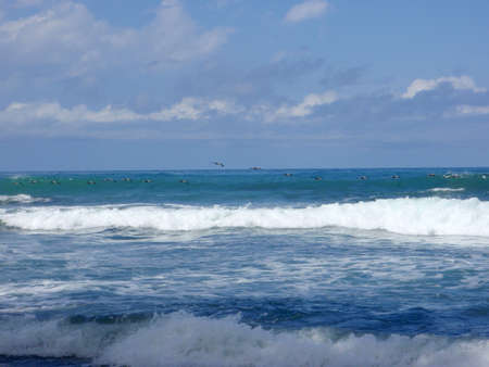 Flying in Formation by some nice waves, in Punta Banco, Costa Rica photo