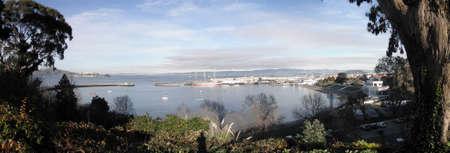 Panoramic view of Aquatic Park in San Francisco, California