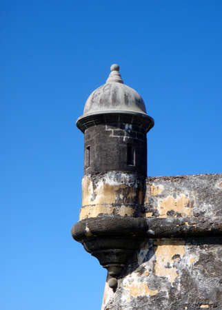 El Morrow Looking Out Tower San Juan Puerto Rico on a clear day. Zdjęcie Seryjne - 7443948