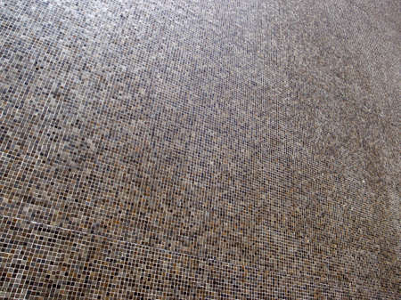 mosaic floor:  Colorful background mosaic design of shiny tile boxes or cubes in grays and browns tones. Stock Photo