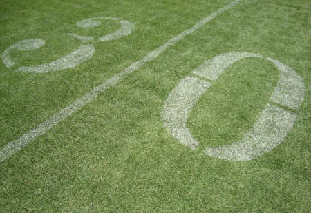 30 yard line on fake grass at the San Francisco 49ers field Candlestick photo