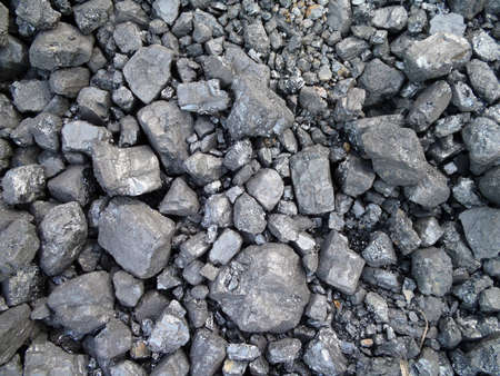 Coal used to power a train making a cool pattern Stock Photo - 7450746