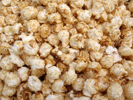 munch: Bunch of Kettle Corn Popcorn in a pile making a cool pattern Stock Photo