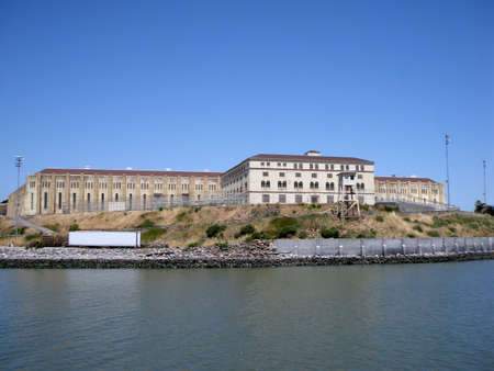San Quentin State Prison California taken from a passing ferry Stock Photo