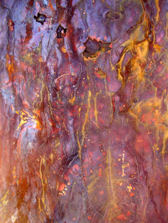 Rusted Metal cracks and bleeds colors from exposure to salt air.  Great for backgrounds. photo