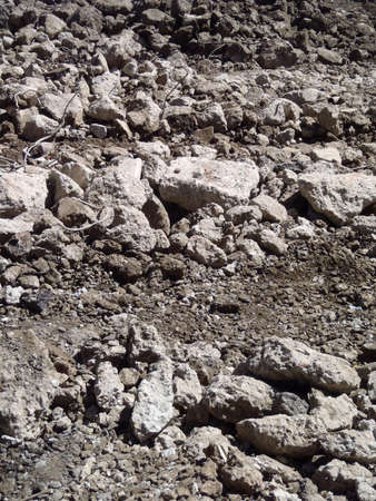 Highway rubble large and small pieces of rock making a cool background pattern.    photo