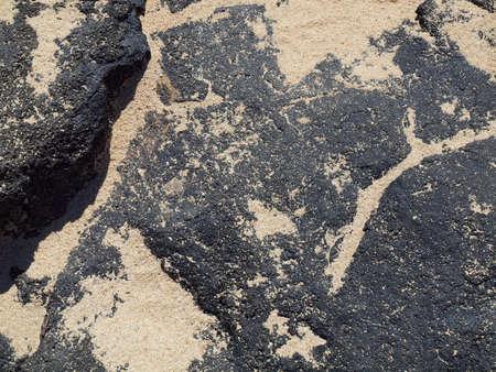 Lava rock with lots of sand on top on Oahu's Makapuu beach Stock Photo - 7946412