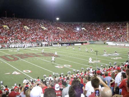 Wisconsin vs. UNLV: UNLV kick off ball to Wisconsin.  Taken September 4, 2010 at Sam Boyd Stadium Las Vegas, Nevada.