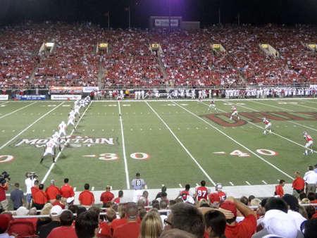 Wisconsin vs. UNLV: Wisconsin kick off ball to UNLV.  Taken September 4 2010 at Sam Boyd Stadium Las Vegas, Nevada.