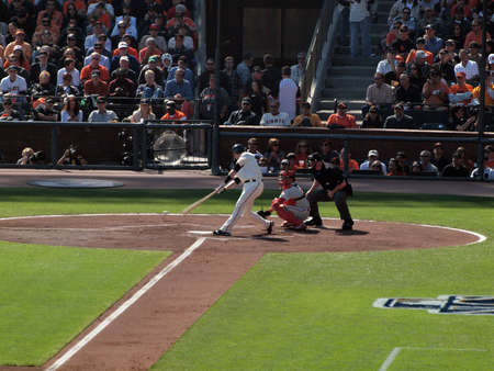 ruiz: SAN FRANCISCO, CA - OCTOBER 19: San Francisco Giants vs. Philadelphia Phillies: batter Buster Posey swings at incoming pitch with Carlos Ruiz catching game three of the NLCS 2010 taken October 19, 2010 AT&T Park San Francisco California.