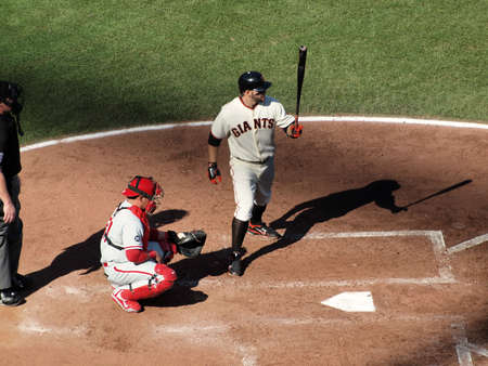 ruiz: SAN FRANCISCO, CA - OCTOBER 19: Giants vs. Phillies: Cody Ross steps into the batters box with Carlos Ruiz catching game three of the NLCS 2010 October 19, 2010 AT&T Park San Francisco. Editorial