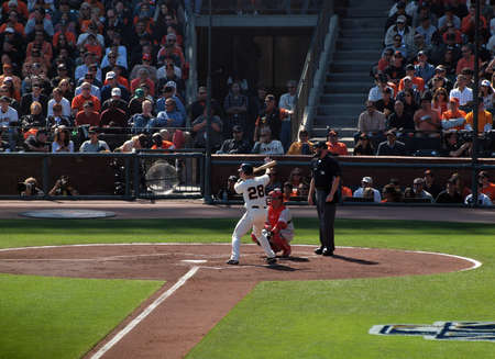 ruiz: SAN FRANCISCO, CA - OCTOBER 19: Giants vs. Phillies: batter Buster Posey stands in the batters box with Carlos Ruiz catching game three of the NLCS 2010 October 19, 2010 AT&T Park San Francisco.