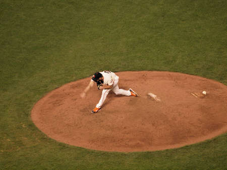 ca he: SAN FRANCISCO, CA - OCTOBER 20: Giants closer Brian Wilson steps forward as he finishes a throw pitch game 4 of the 2010 NLCS game between Giants and Phillies Oct. 20, 2010 AT&T Park San Francisco, CA.