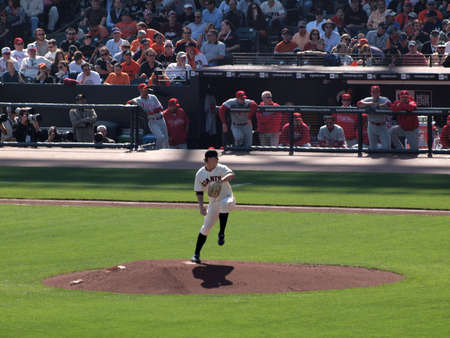 ca he: SAN FRANCISCO, CA - OCTOBER 19: San Francisco Giants vs. Philadelphia Phillies: Pitcher Matt Cain lifts leg to build power as he steps into a throw game three of the NLCS 2010 taken October 19, 2010 AT&T Park San Francisco California.