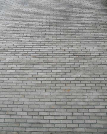 Gray stone brick path leading into the distance Stock Photo - 8538630