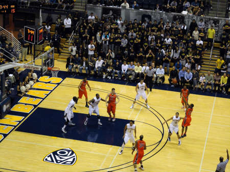 cal: BERKELEY, CA - JANUARY 27: Cal Vs. Oregon State - OOregon State Player Calvin Haynes takes 3 point shoot at the Haas Pavilion taken January 27, 2011 Berkeley California.