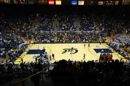 cal: BERKELEY, CA - JANUARY 27: Cal Vs. Oregon State -Teams take time out to plan for next play at the Haas Pavilion taken January 27, 2011 Berkeley California.  Editorial