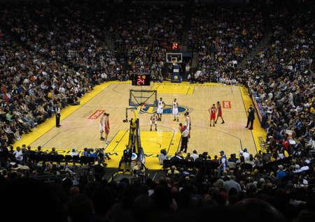 OAKLAND, CA - JANUARY 17: Nets Vs. Warriors: Warriors Monta Ellis sets to take free throw shot. Taken January 17, 2011 Oracle Arena Oakland, CA.