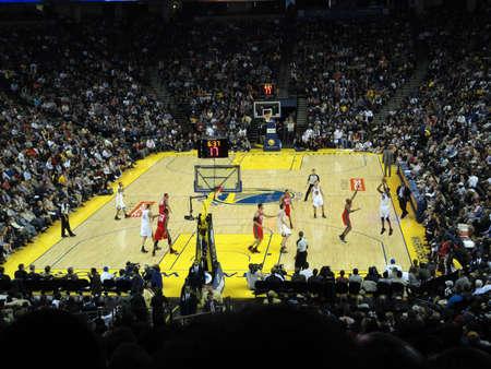 OAKLAND, CA - JANUARY 17: Nets Vs. Warriors: Warriors Dorell Wright Shoots a 3 pointer. Taken January 17, 2011 Oracle Arena Oakland, CA. Editorial