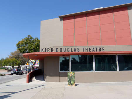 kirk: CULVER CITY, CA - MARCH 16: Kirk Douglas Theater during the day as cars roll by taken March 16, 2009 Culver City, CA.