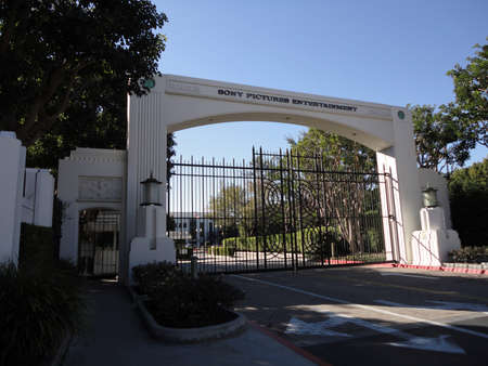 LOS ANGELES, NOVEMBER 25: Closed gate to the enterance to the Sony Pictures Entertainment Studio taken November 25 2010 Los Angeles.