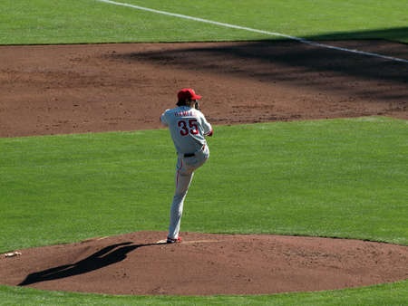 ca he: SAN FRANCISCO, CA - OCTOBER 19: Giants vs. Phillies: Phillies Cole Hamels lifts leg high as he sets to throw pitch game three of the NLCS 2010 taken October 19, 2010 AT&T Park San Francisco.