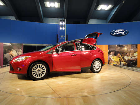 SAN FRANCISCO, CA - NOVEMBER 20: Red Ford Fiesta on display at the 53rd International Auto Show on November 20, 2010 in San Francisco, CA.