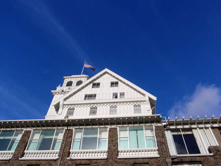 Close-up of Historic Claremont Hotel at the foot of Claremont Canyon in the Berkeley Hills in Berkeley and Oakland, California. Opened in 1915 The Hotel was added to the National Register of Historic Places in 2003, and is a designated California Historic Stock Photo - 10753852