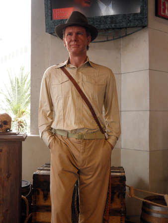 LAS VEGAS - FEBUARY 07: Wax Statue of Indiana Jones, Harrison Ford, on display Febuary 2nd 2010 Madame Tussauds in Las Vegas Nevada U.S.A.