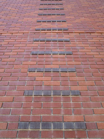 Red brick wall Pattern going upward Stock Photo - 11097749