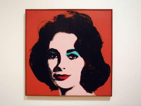 andy warhol: SAN FRANCISCO - JANAURY 25: Red Liz By Andy Warhol at the SFMOMA on January 25, 2010 San Francisco.