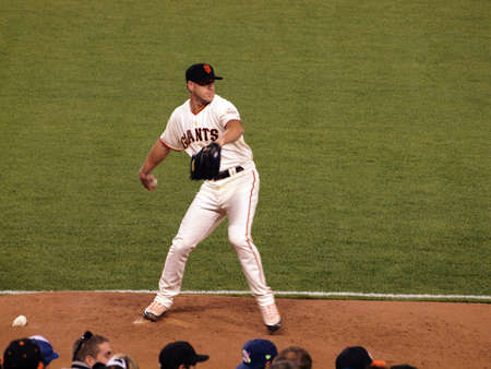 wilson: Giants Vs. Padres: Giants Closer Brian Wilson steps his leg to throw as he warms up in the bullpen to prepare to close a game. May 11 2010 Att Park San Francisco California